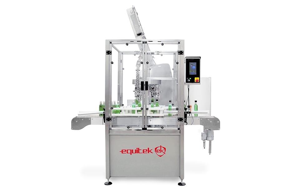 ERR-(2) Maquina de Colocado y Enroscado de Tapas Rotativo.