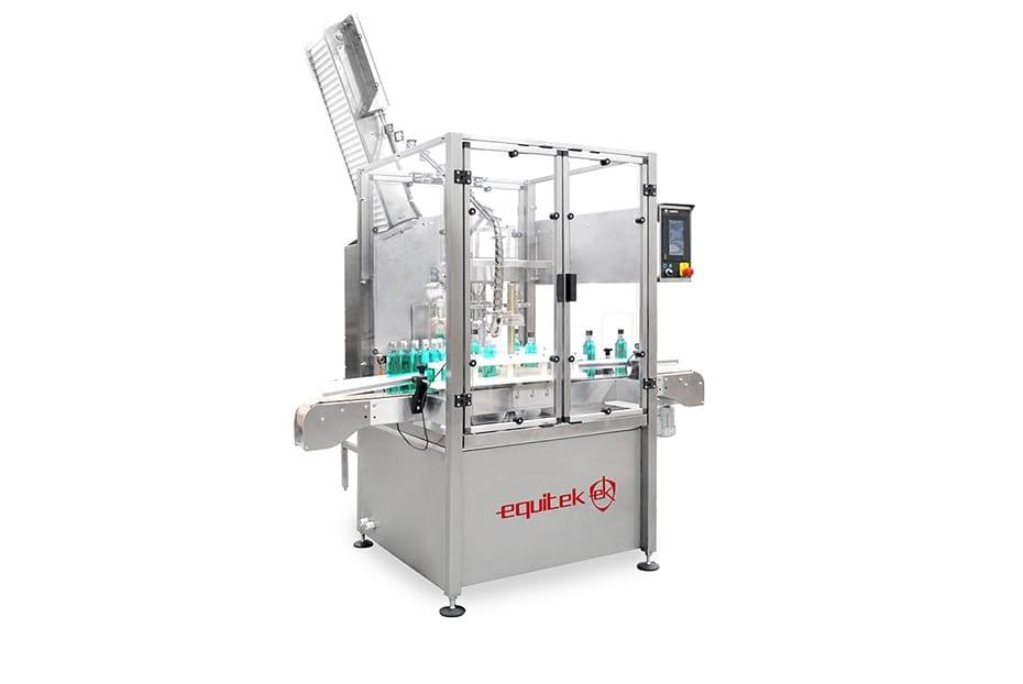 ERR-(1) Maquina de Colocado y Enroscado de Tapas Rotativo.
